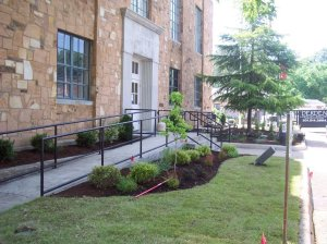 van buren co courthouse a. after planting.june 1.