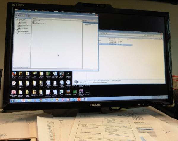 online computer work.