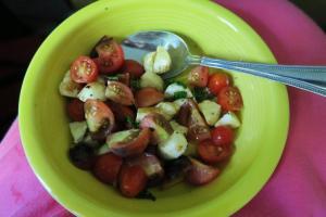 caprese salad.