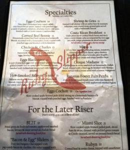 ruby slipper menu.